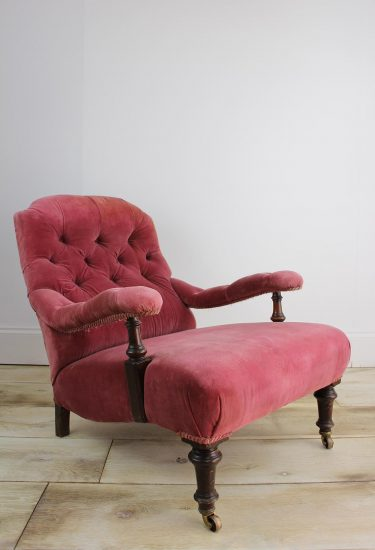 VICTORIAN SHOOLBRED LOW ARMCHAIR