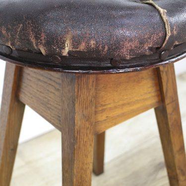 Antique artist swivel stool
