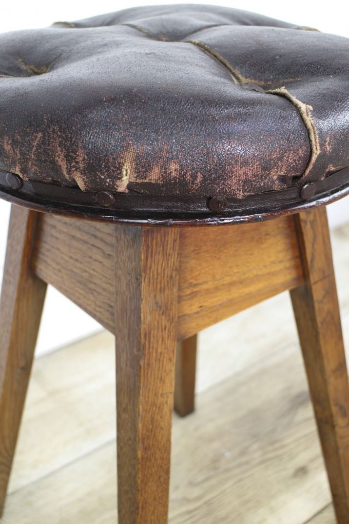 Antique artist swivel stool