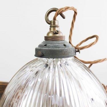Vintage Holophane pendant lighting