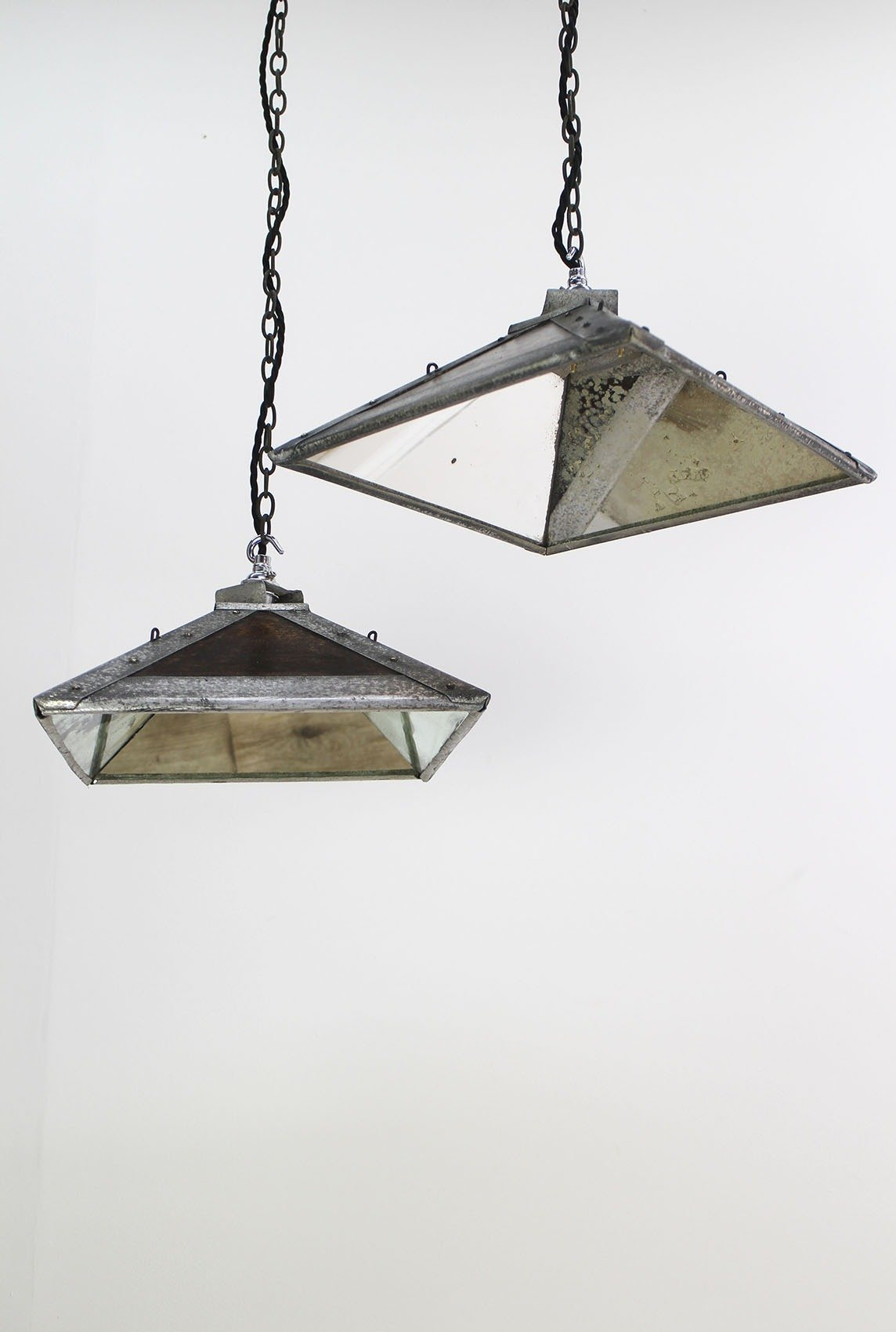 esla table antique wall co s products industrial pendant lights restored from the salvaged mirrored uk projectvintage retro ceiling and lamps light