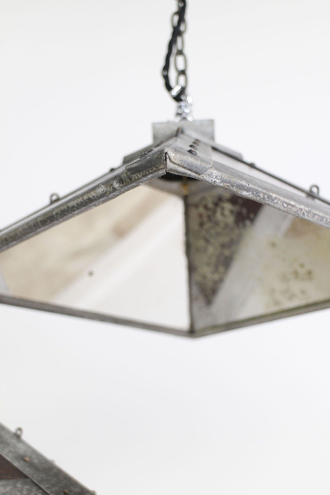 coated lights pin mcclellan pendant by beau blown hand fluid mirrored mirror