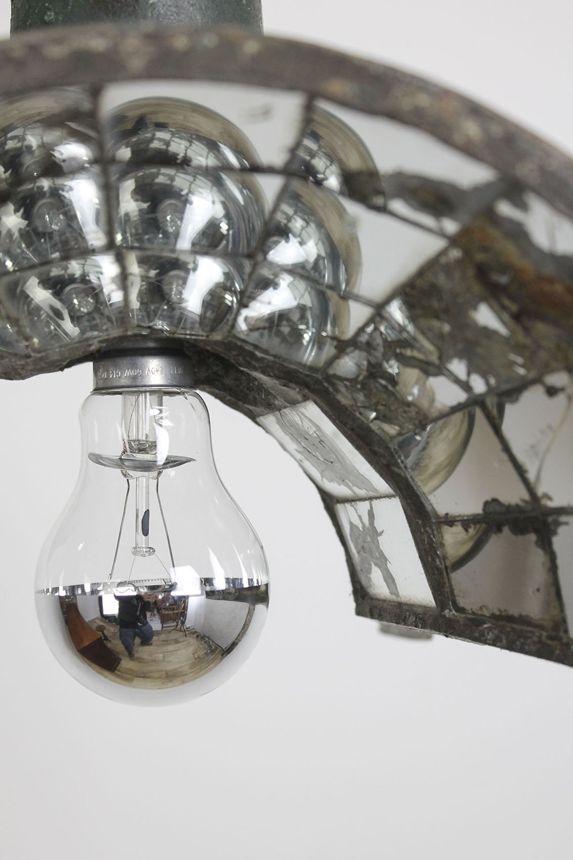 mirrored antiqued model hardware octagonal glass en mirror parisian pendant restoration