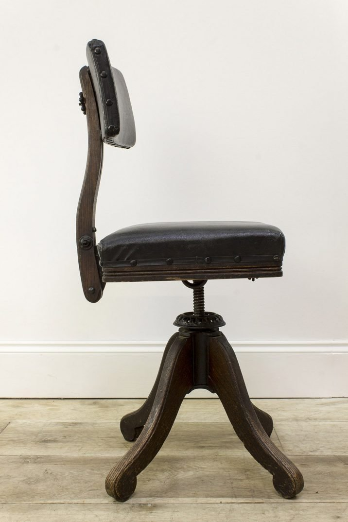 ANTIQUE AMERICAN DESK CHAIR BY DAVIS CHAIR CO. - COOLING & COOLING