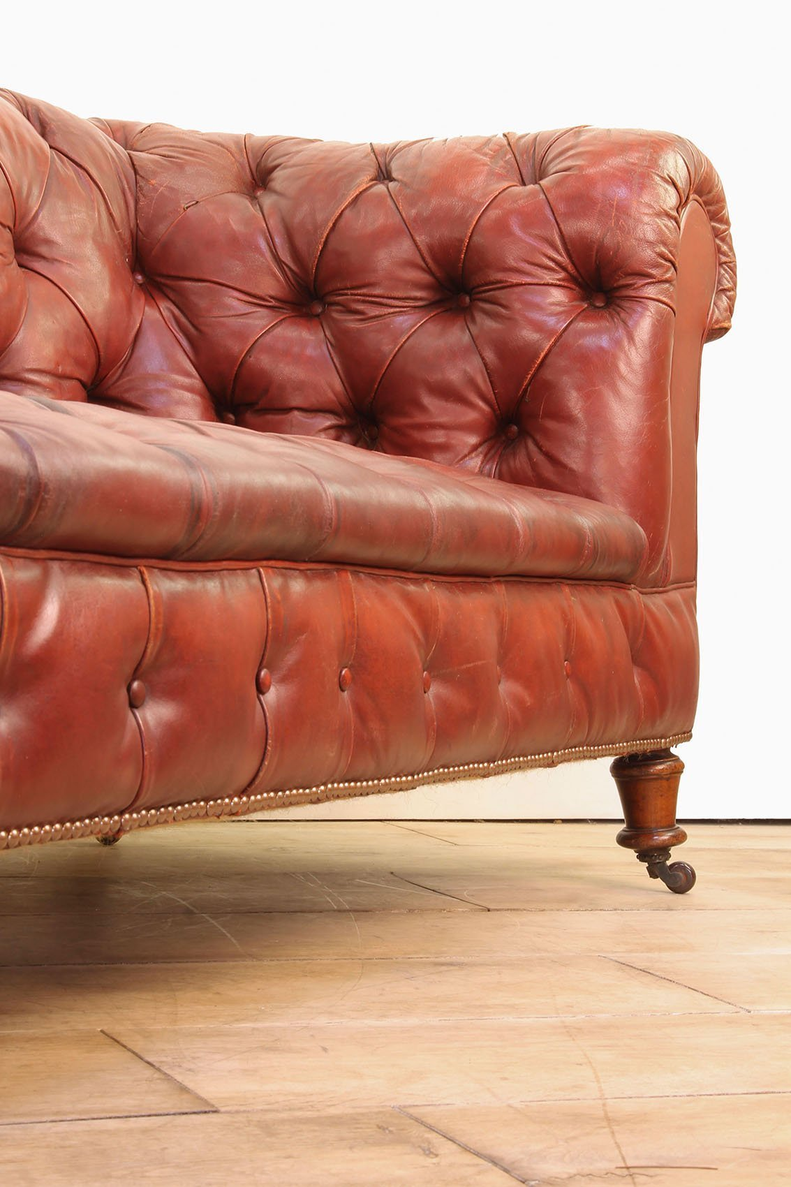 Victorian Red Leather Chesterfield Sofa Cooling Amp Cooling