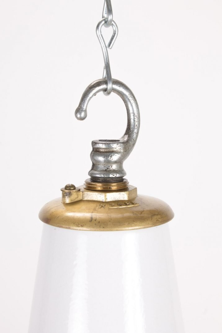 """18"""" Industrial White Pendant Lights By Benjamin - Cooling & Cooling"""