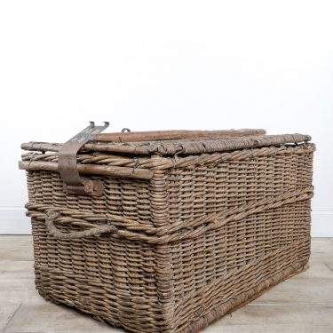 Large Antique Wicker Basket - Cooling & Cooling