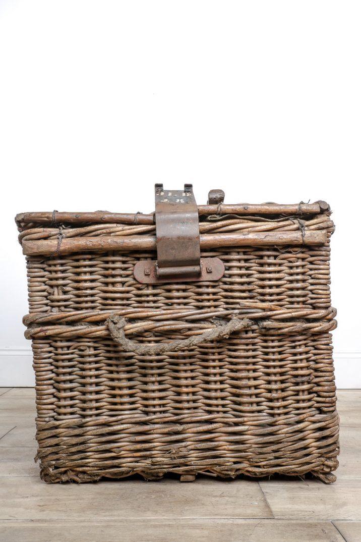 Large Antique Wicker Basket - Cooling & Cooling