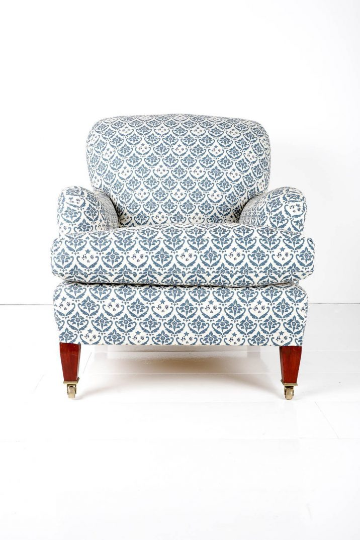 ANTIQUE HOWARD & SONS BRIDGEWATER ARMCHAIR- COOLING & COOLING