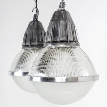 Large Industrial Holophane Pendant Lights - Cooling & Cooling
