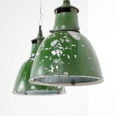 Green Industrial Holophane Pendant Lights - Cooling & Cooling