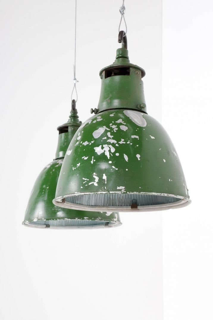 Industrial Holophane Pendant Lights