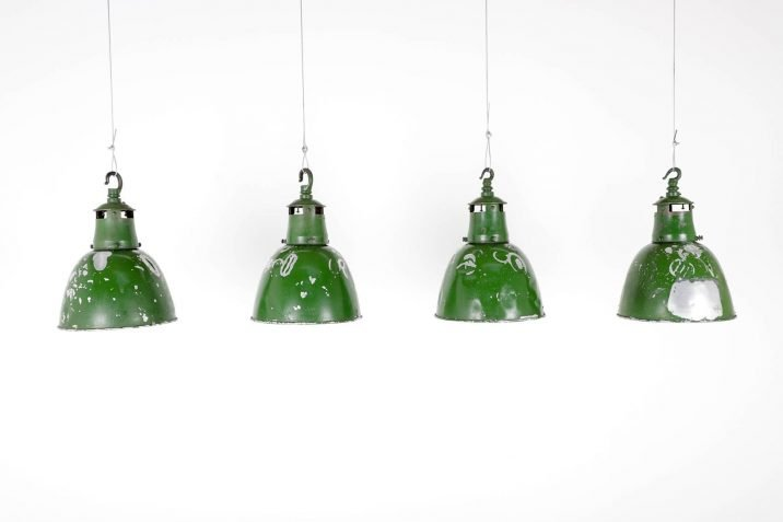 Green Industrial Holophane Pendant Lights - Cooling & Cooling