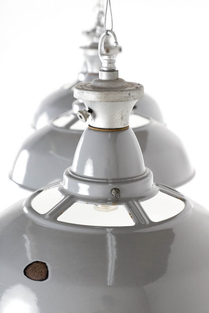 Industrial Benjamin 'reflector Crysteel' Lights - Cooling & Cooling