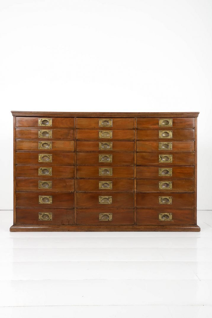 ANTIQUE HABERDASHERY BANK OF DRAWERS 19TH CENTURY - COOLING & COOLING