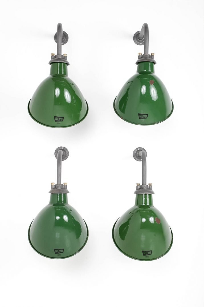 Industrial Revo Enamelled Wall Lights - Cooling & Cooling