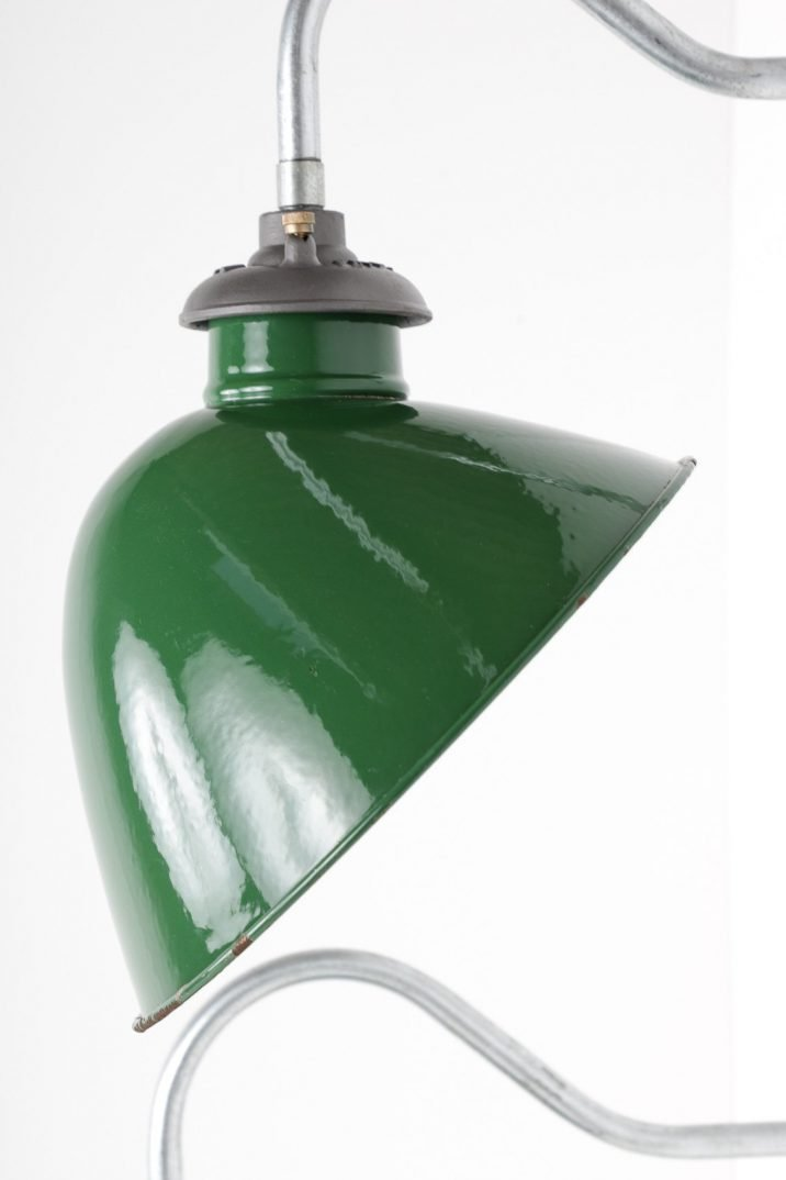 Large Industrial Green Revo Enameled Wall Lights - Cooling & Cooling