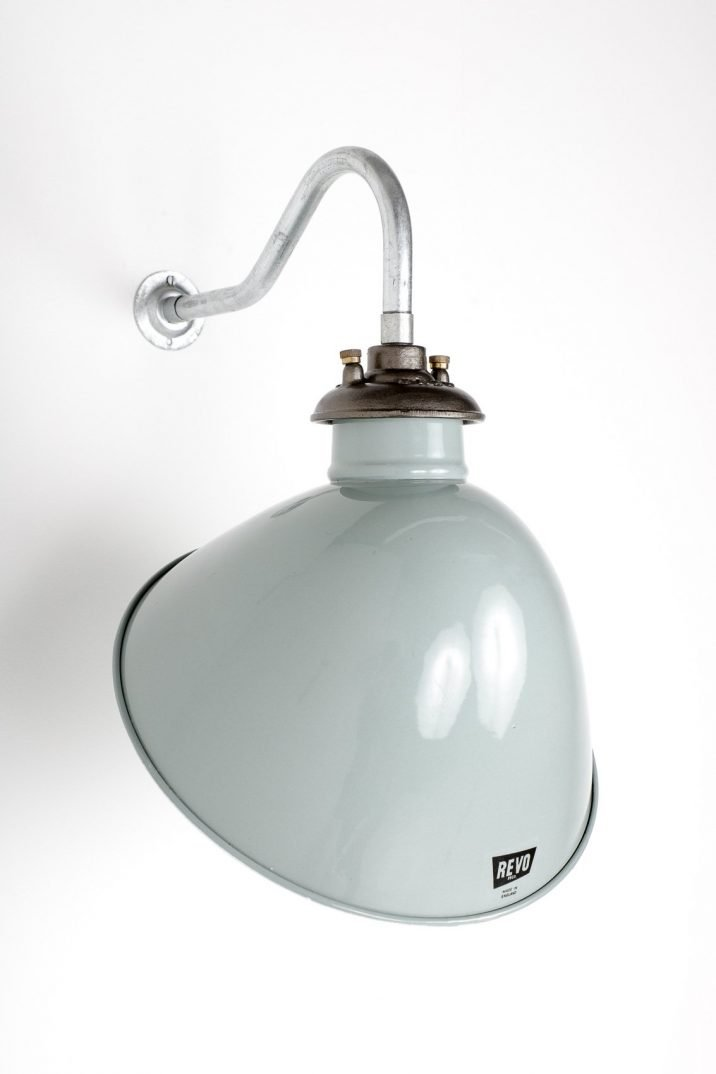 Large Industrial Grey Revo Enameled Wall Lights - Cooling & Cooling