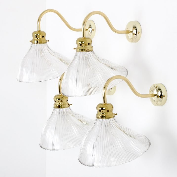 Antique Holophane Wall Lights