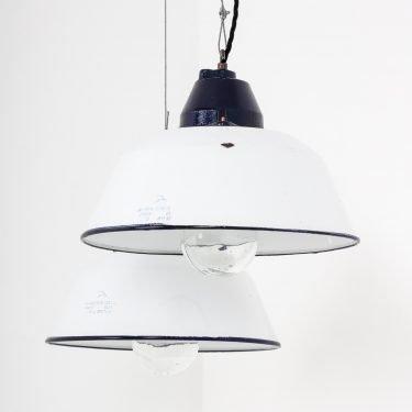 Vintage Hungarian Industrial Pendant Lights - Cooling & Cooling