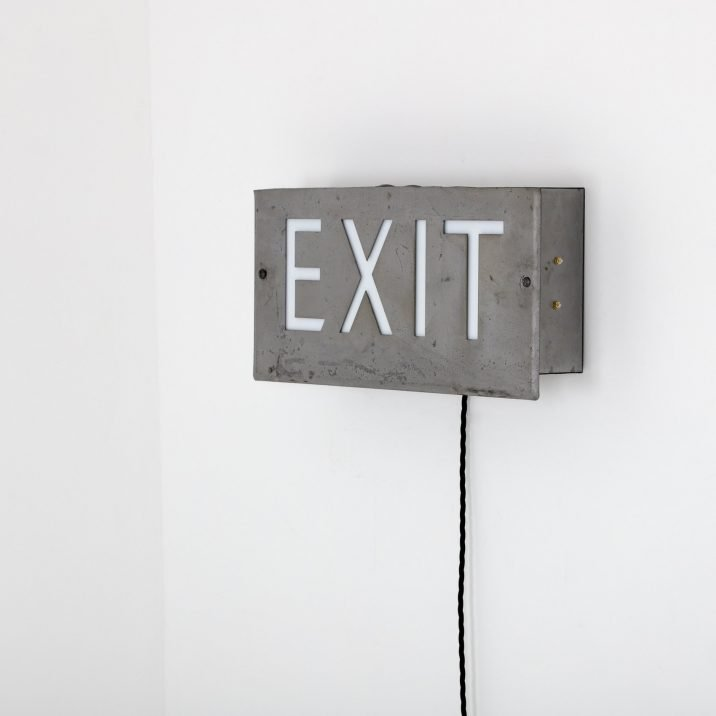 VINTAGE ILLUMINATED THEATRE 'EXIT' SIGNS - COOLING & COOLING