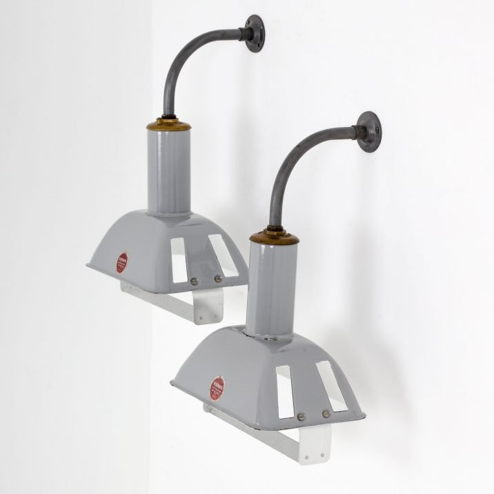 Industrial Rectangular Wall Lights By Benjamin - Cooling & Cooling