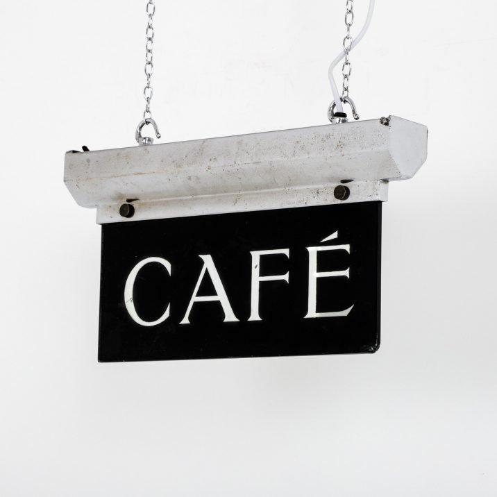 ANTIQUE ART DECO ILLUMINATED 'CAFE' SIGN - COOLING & COOLING