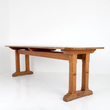 Large Arts & Crafts Oak Refectory Table - Cooling & Cooling