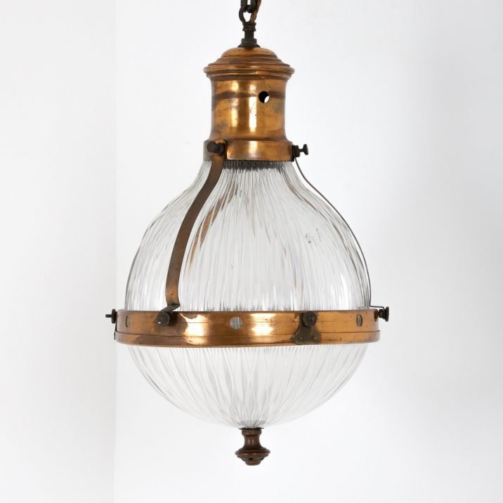 RARE ANTIQUE GERMAN PENDANT LIGHT BY ASTEROID - COOLING & COOLING