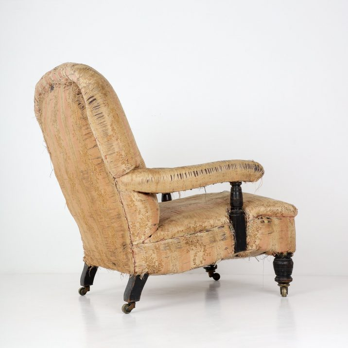 ANTIQUE ENGLISH COUNTRY HOUSE OPEN ARMCHAIR- COOLING & COOLING
