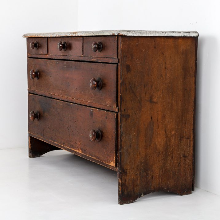 Antique Country House Chest Of Drawers - Cooling & Cooling