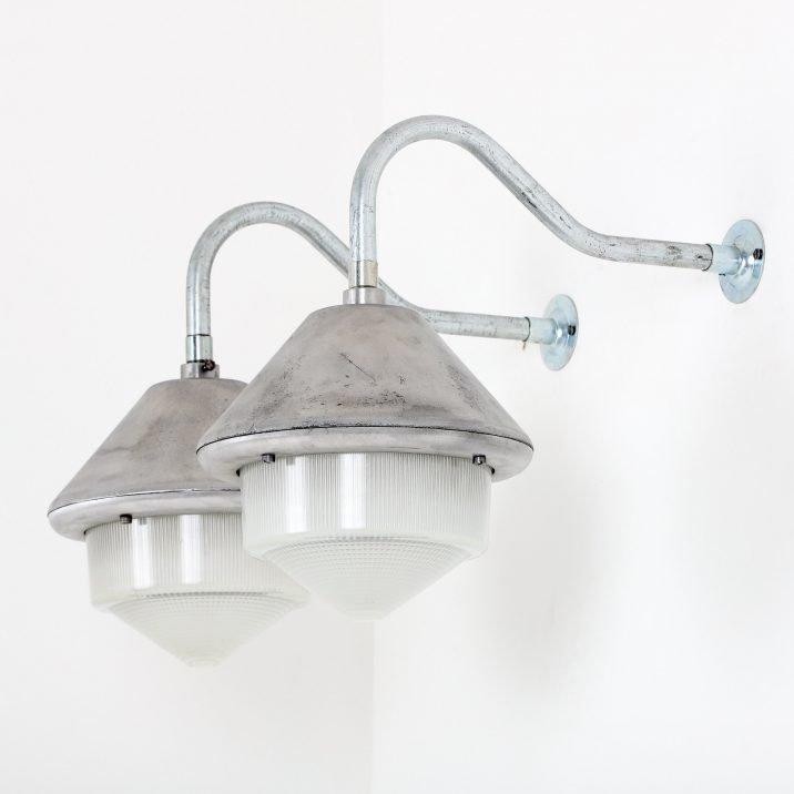 Industrial Mod Holophane Wall Light