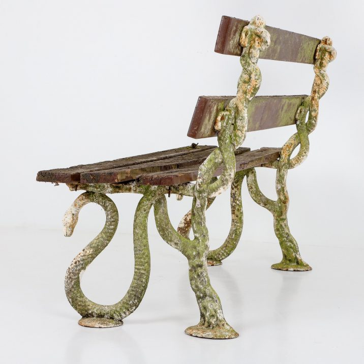 Antique Victorian Serpent Bench - Cooling & Cooling