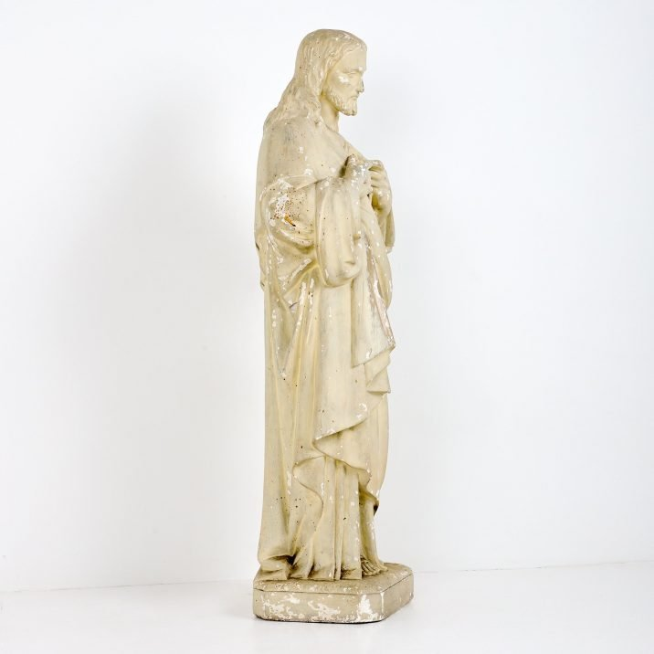 Large Antique Statue Of Jesus - Cooling & Cooling