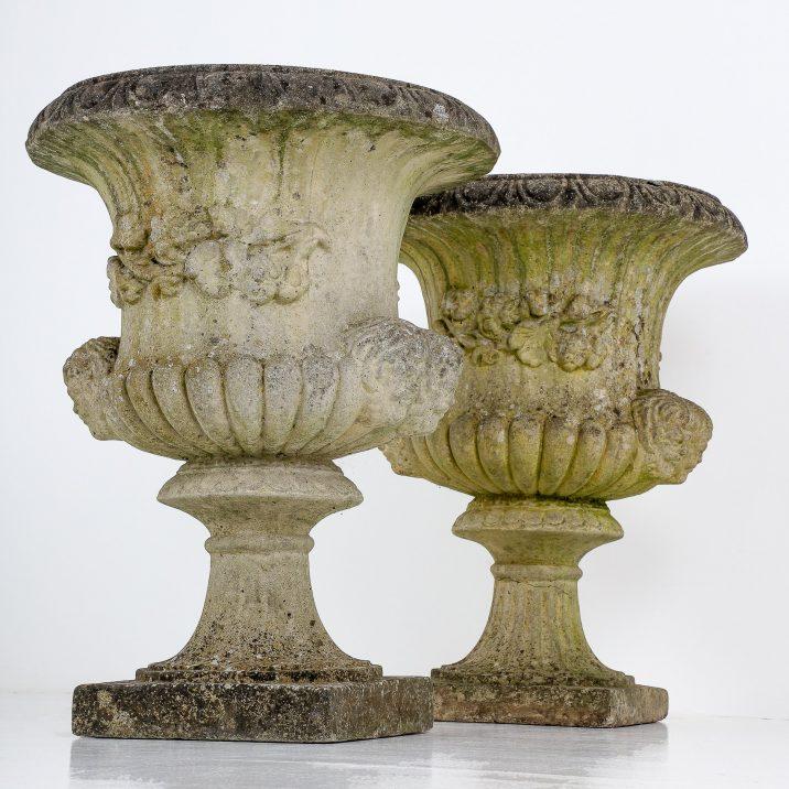 Sandford Stone classical garden urns
