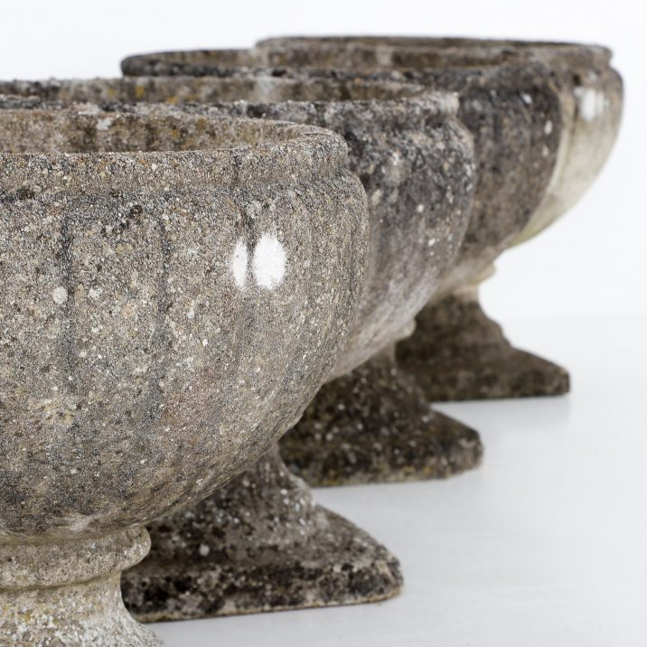 Set Of Four English Weathered Planters - Cooling & Cooling