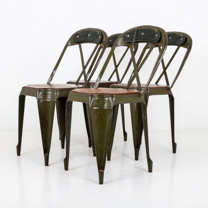 SET OF 4 INDUSTRIAL EVERTAUT X CHAIRS - COOLING & COOLING