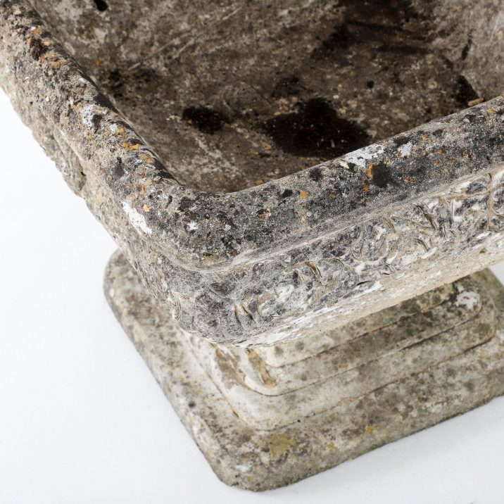 Large Square English Weathered Planter - Cooling & Cooling
