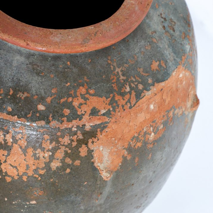 MEDIUM ANTIQUE GLAZED EARTHENWARE POT - COOLING & COOLING