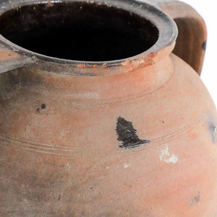 Medium Antique Terracotta Earthenware Pot - Cooling & Cooling