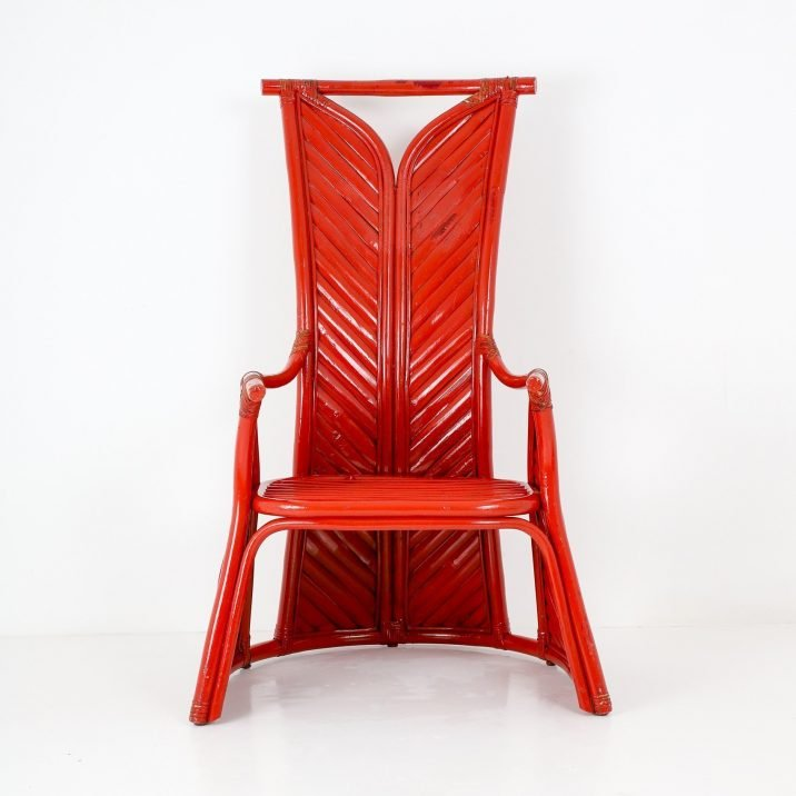 PAIR OF VINTAGE BAMBOO THRONE CHAIRS- COOLING & COOLING