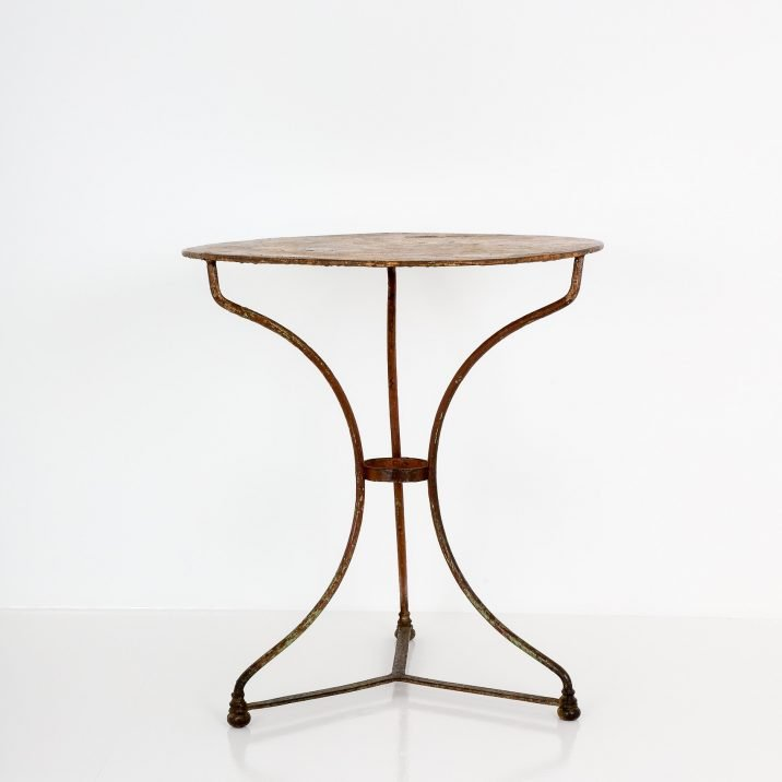 Antique French Bistro Table - Cooling & Cooling