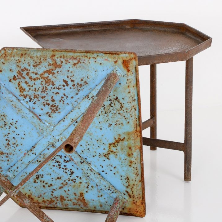 PAIR OF INDUSTRIAL BLACKSMITHS TABLES - COOLING & COOLING