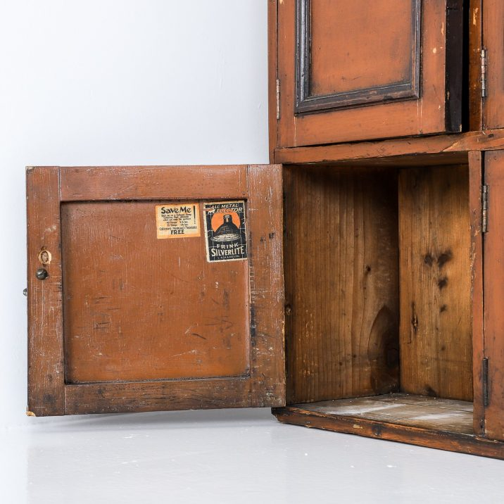 ANTIQUE COUNTRY HOUSE LOCKER CUPBOARD