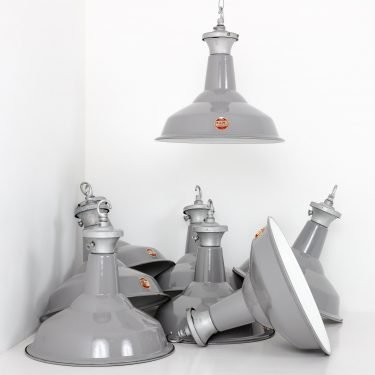 British industrial pendant light