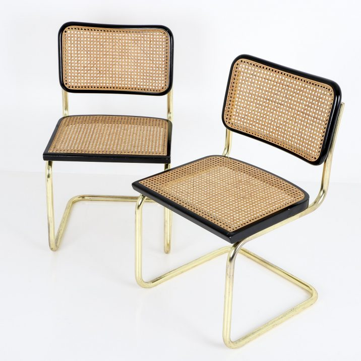 VINTAGE GOLD CESCA CHAIR BY MARCEL BREUER - COOLING & COOLING