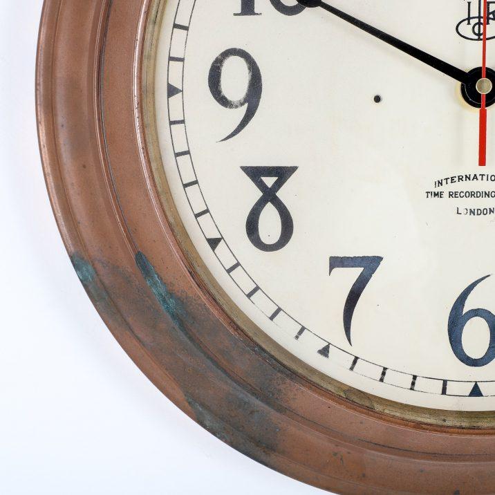 ANTIQUE COPPER INTERNATIONAL TIME RECORDING CO LTD CLOCK - COOLING & COOLING