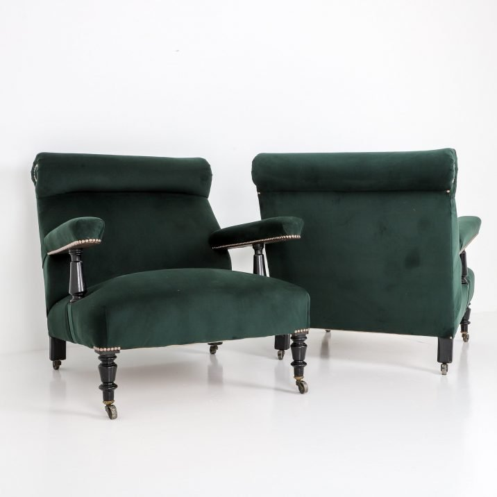 Large Pair Antique Open Armchairs - Cooling & Cooling