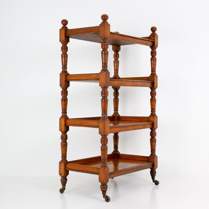 ANTIQUE ENGLISH COUNTRY HOUSE PANTRY RACK 138cm - COOLING & COOLING