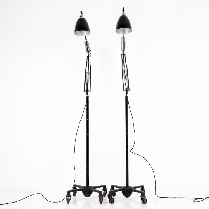 Black Herbert Terry Anglepoise Floor Lamp - Cooling & Cooling